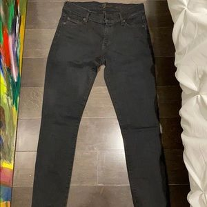 7 for all mankind jeans - black size 25